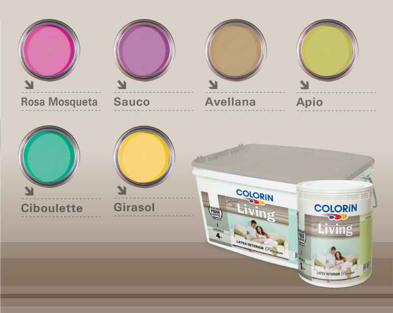 De la paleta de color n colores de living tres propuestas for Colores de pintura para living