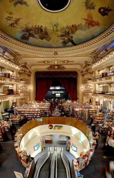 """""""El Ateneo Grand Splendid"""", la segunda librería más importante del mundo"""