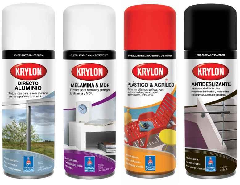Krylon presenta nuevas variedades en aerosol para - Pintura para aluminio ...
