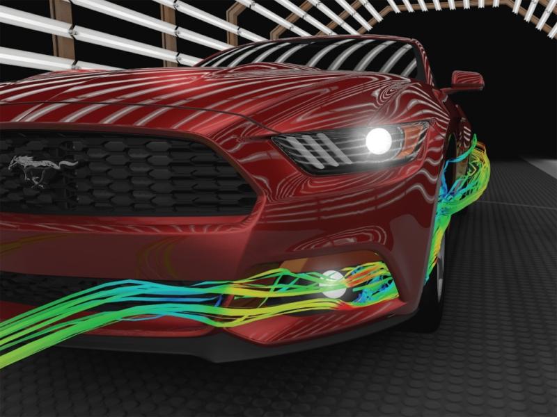 Ford reveló el trabajo de aerodinamia que realizó para el Nuevo Mustang