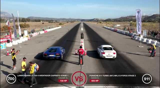 Aventador vs 911 Turbo, ¿cuál acelerará más rápido?