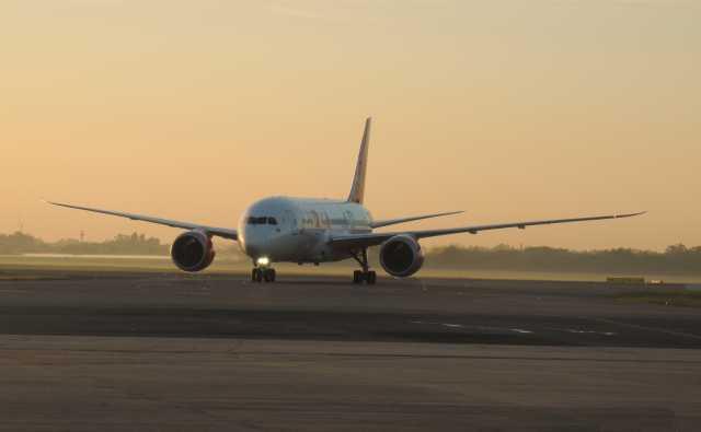 El Boeing B787-8 de Avianca aterriza en Buenos Aires