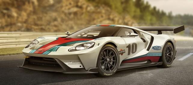 Representación del Ford GT Race Car de Carwow y YasidDesign