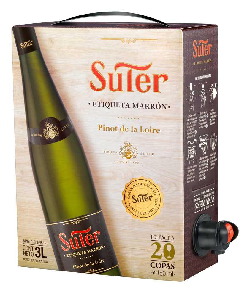 Suter Etiqueta Marrón Pinot / Precio de Venta Sugerido $ 115