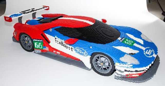 Un Ford GT fue construido con 40.000 piezas de Lego