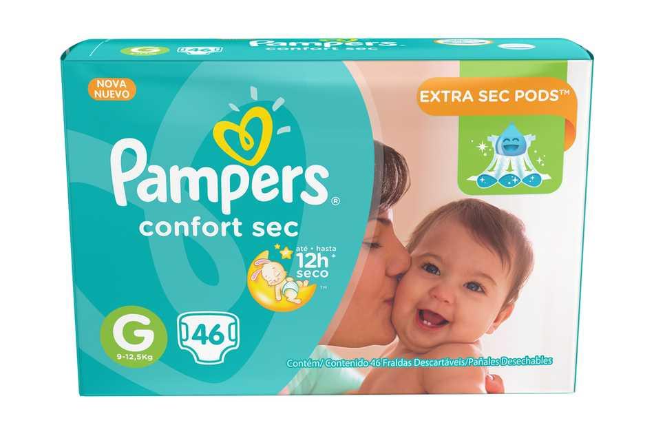 Nuevos Pampers con canales Extra Sec Pods