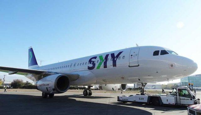 SKY recibe el primer avión con su nueva imagen corporativa