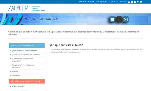 La Aduana presentó el nuevo servicio MOA para el acceso a información a través de Web Services