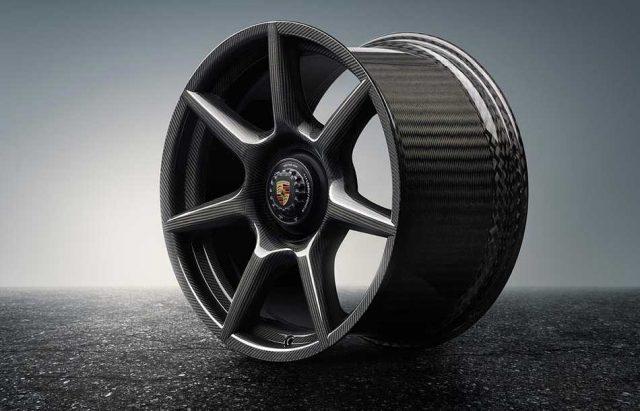 Aros de fibra de carbono trenzada para el Porsche 911 Turbo S Exclusive Series