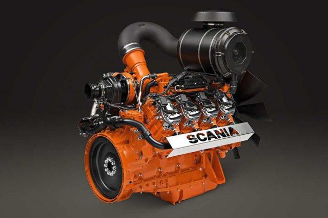 Scania presenta su motor V8 a gas