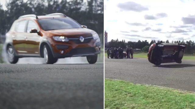 Después del vuelco: Renault culpó al piloto y dijo que el Sandero seguirá sin ESP