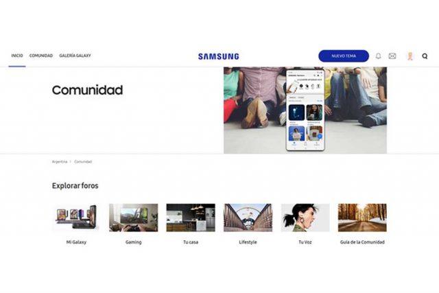 Llega Comunidad a Samsung Members