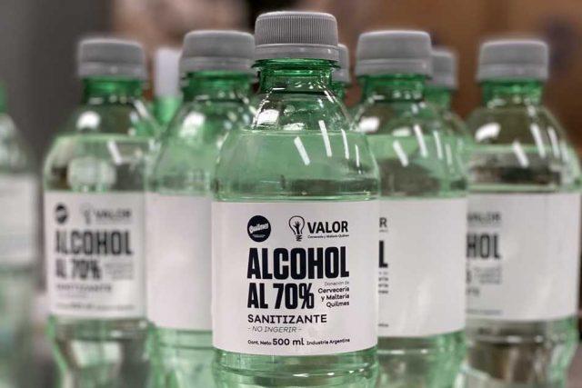 Cervecería y Maltería Quilmes dona alcohol sanitizante elaborado a partir de su cerveza