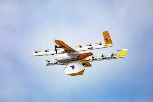 """Wing, el """"dron delivery"""" de Google que reparte medicamentos y comida en la pandemia"""