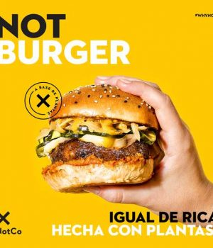Llega NotBurger, una hamburguesa con gusto a carne pero hecha 100% a base de plantas